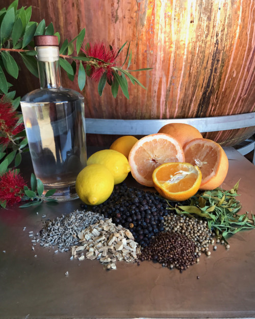 Botanicals and fruit in Real Spirits gin